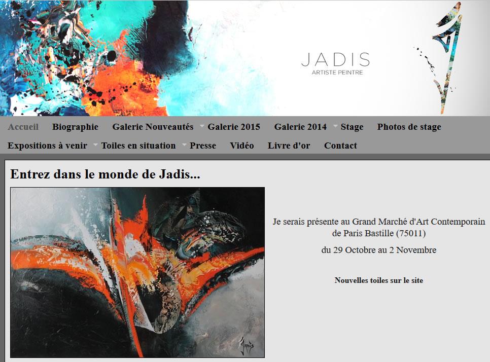 Jadis, artiste peintre abstrait